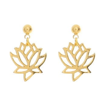 Lotus Charm Earrings