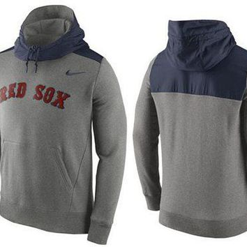 Boston Red Sox Nike MLB Gray/blue Ultra Pullover Hoodie