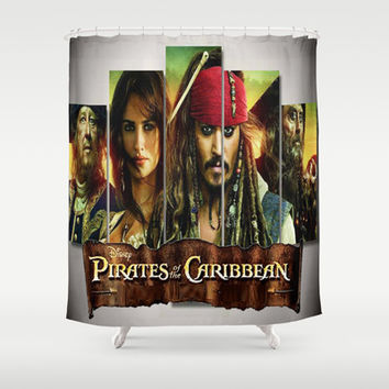 Pirates of the caribbean Shower Curtain by Giftstore2u