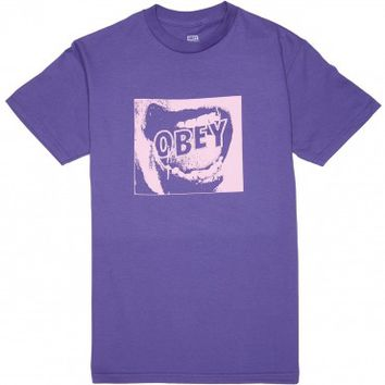 Obey Screamer T-Shirt - Purple