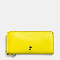 Coach X Peanuts Accordion Zip Wallet in Leather