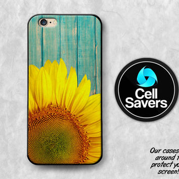 Sunflower Wood iPhone 6s Case iPhone 6 Case iPhone 6 Plus iPhone 6s + iPhone 5c iPhone 5 iPhone SE Tumblr Blue Wood Flower Floral Cute Petal