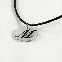 Monogram Shrinky Dinks Shrink Plastic Pendants by theotherstacey