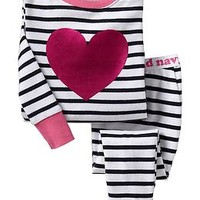 Striped Heart PJ Sets for Baby