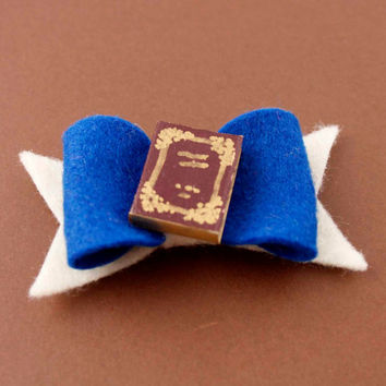 Belle's Book Hair Bow - Beauty and the Beast Felt Hair Bow - Disney Inspired