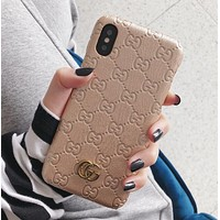 GUCCI New Hot Sale iPhone Phone Cover Case For iphone 6 6s 6plus 6s-plus 7 7plus 8 8plus iPhone X XR XS XS MAX