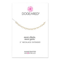 necklace extender, gold dipped, 3 inch - Dogeared