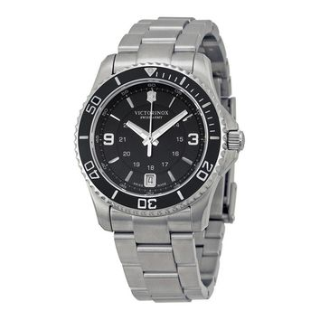 Victorinox Swiss Army Maverick Black Dial Stainless Steel Ladies Watch 241701