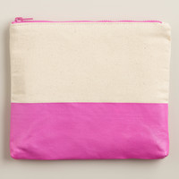 Purple Dipped Canvas Stationery Case - World Market