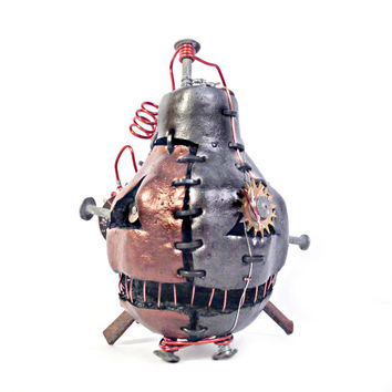 Steampunk Halloween Pumpkin- Crossbones
