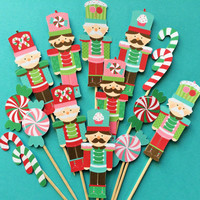 Nutcracker cupcake toppers, 13 Nutcracker cupcake toppers, nutcracker cake toppers, Christmas nutcrackers, Nutcrackers cupcake toppers
