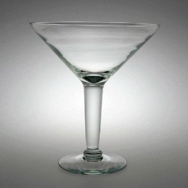 Large martini glass centerpiece vegas from piece of cake