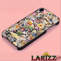 "Disney Collage Art for iphone 4/4s/5/5s/5c/6/6+, Samsung S3/S4/S5/S6/s6 edge, iPad 2/3/4/Air/Mini, iPod 4/5, Samsung Note 3/4 Case ""007"""