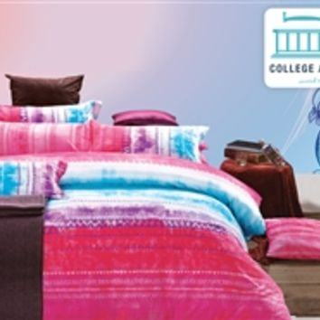 Fuchsia Blend Twin XL Comforter Set - College Ave Designer Series Bedding For Dorms Twin XL Bed Sets For College