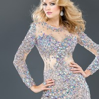 Jovani 73054 Sparkly Cocktail Dress