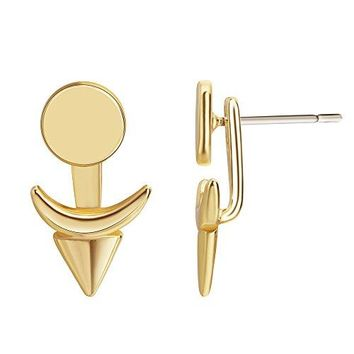 Nickel Free Earrings18K Gold Stud Earrings Small Ear Piercing Jewelry Casual Dangle Earrings for Women Girls