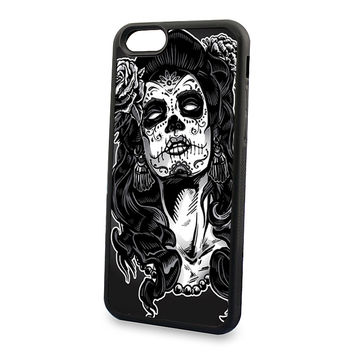 day of the dead sugar skull soft edge cell phone cases for iPhone4s 5c 5s 6 6s 6plus 6Splus phone cover case
