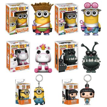 Funko pop Minions Decoration Action Figure PVC Vinyl Dave Unicorn Brinquedos Toys For The Friend The Movie Fan