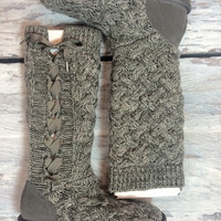 UGG MAHALAYA KNIT IN HEATHER GREY