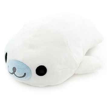 Buy San-X Mamegoma Seal White Medium 22cm Plush at ARTBOX