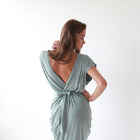 Mint ,Maxi Dress, Bridesmaid Dress