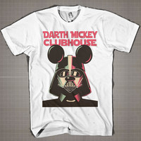Dark Mickey ClubHouse  Mens and Women T-Shirt Available Color Black And White