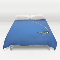 Summer Kite Duvet Cover by  Alexia Miles Photography