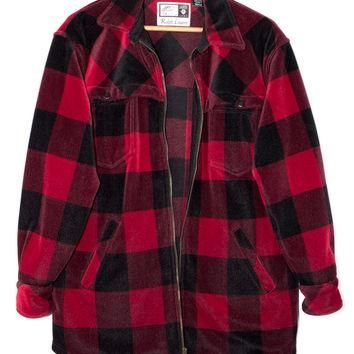 RALPH LAUREN velvety soft flannel shirt - red and black lumberjack - buffalo plaid - v