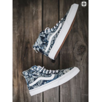 Vans Classic Canvas Leisure Shoes high-tops print H-CSXY