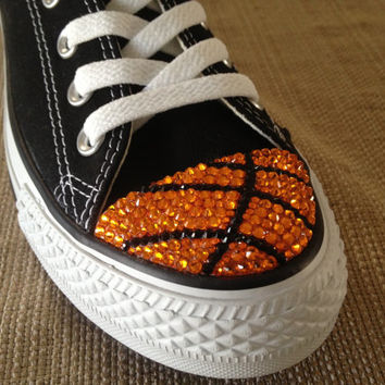 Basketball Swarovski Blinged Converse