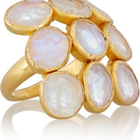 Pippa Small - 18-karat gold rainbow moonstone ring