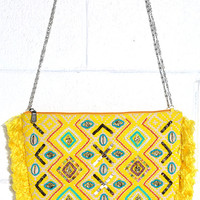 Bali Mood Yellow Beaded Clutch