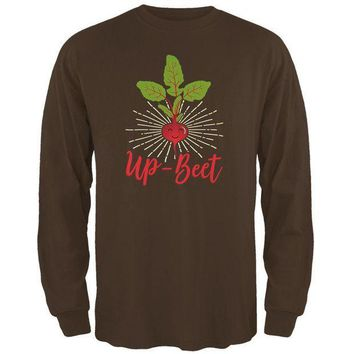 PEAPGQ9 Vegetable Beet Upbeat Up-Beet Mens Long Sleeve T Shirt