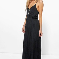 Lauren Ring Detail Strappy Maxi Dress | Boohoo