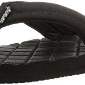 Reef Womens Sandals Star Dreams II | Faux Leather Quilted Flip Flops for Women with Soft Cushion Footbed | Waterproof