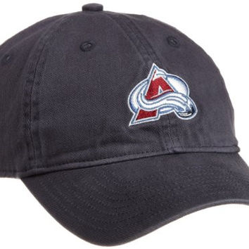 NHL Women's Basic Slouch Adjustable Cap, Colorado Avalanche, One Size Fits All