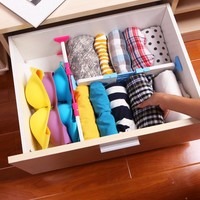 New Adjustable Drawer Dividers Plastic Storage Drawers Organizer Kitchen Organisers Space Saver Color Random