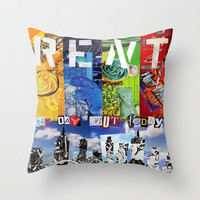 Rent musical Indoor OR Outdoor Throw Pillow COVER, Decorative Pillow cover, Home Decor Colorful Pillows for Couch, No day like today