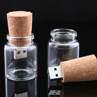 USBGeek — Empty Bottle with Cork USB Drive