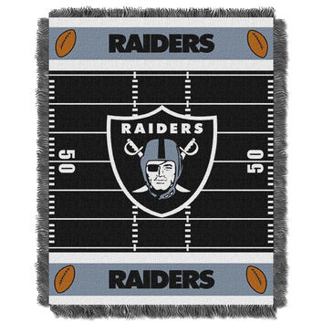 Oakland Raiders NFL Triple Woven Jacquard Throw (Field Baby Series) (36x48)