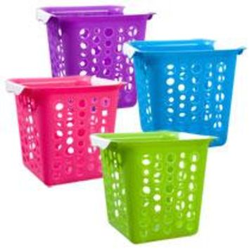 Bulk Brightly-Colored Square Plastic Slot Baskets at DollarTree.com