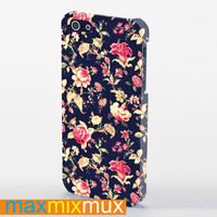Embroidery Floral iPhone 4/4S, 5/5S, 5C Series Full Wrap Case