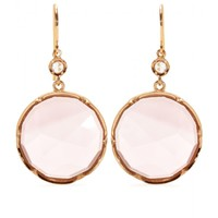 irene neuwirth - 18kt rose gold earrings with rose de france amethyst and white diamond