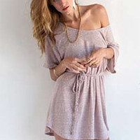 Nation LTD India Mini Dress in Fawn