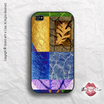 Gold Leaf Abstract Collage - iPhone 4 Case, iPhone 4s Case and iPhone 5 case