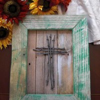Cross Wood Wall Hanging by ABCbirdhouses by ABCbirdhouses