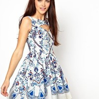 Primark Floral Print Prom Dress at asos.com