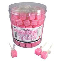 Cube Lollipops - Bubble Gum: 100-Piece Tub