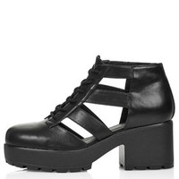 BUGG Cut-Out Shoe Boots - Black
