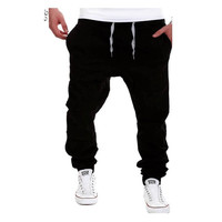 Trousers Men Casual Solid Pants of Brand New Jogger Large Size Khaki Sweatpants